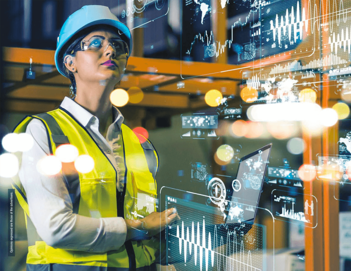 Woman working at a construction site - Touchplan