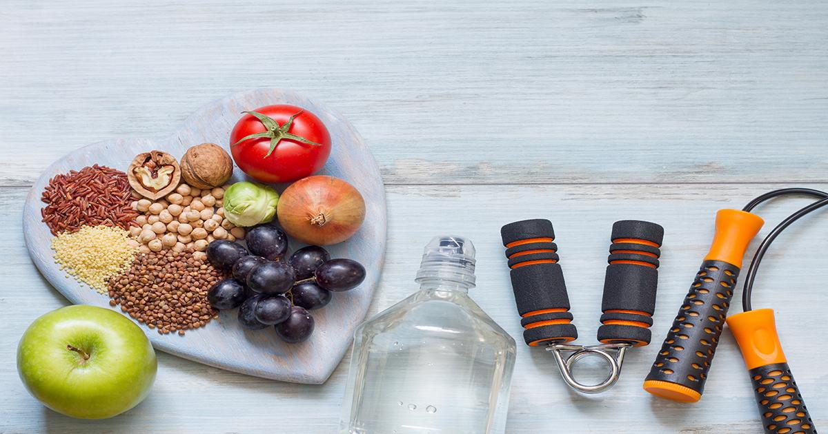 Wellness Wednesday display of healthy foods